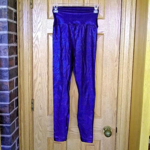 42060d8fec American Apparel Pants - American Apparel blue/black holographic leggings